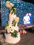 5 tiers wedding cake