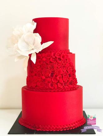 Red beauty wedding cake
