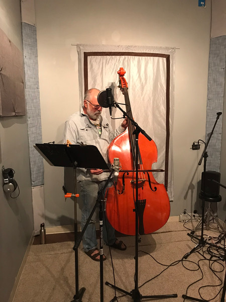 Upright Bass in Iso Room