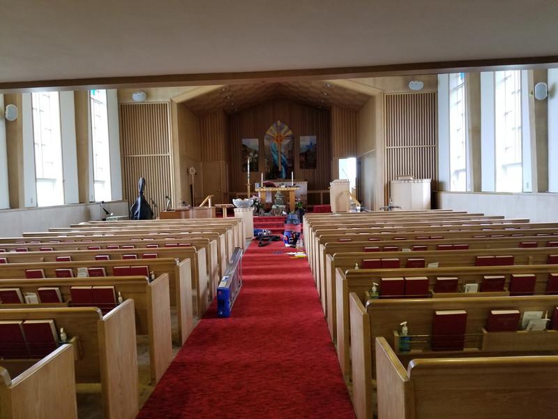 First Lutheran Astoria installation