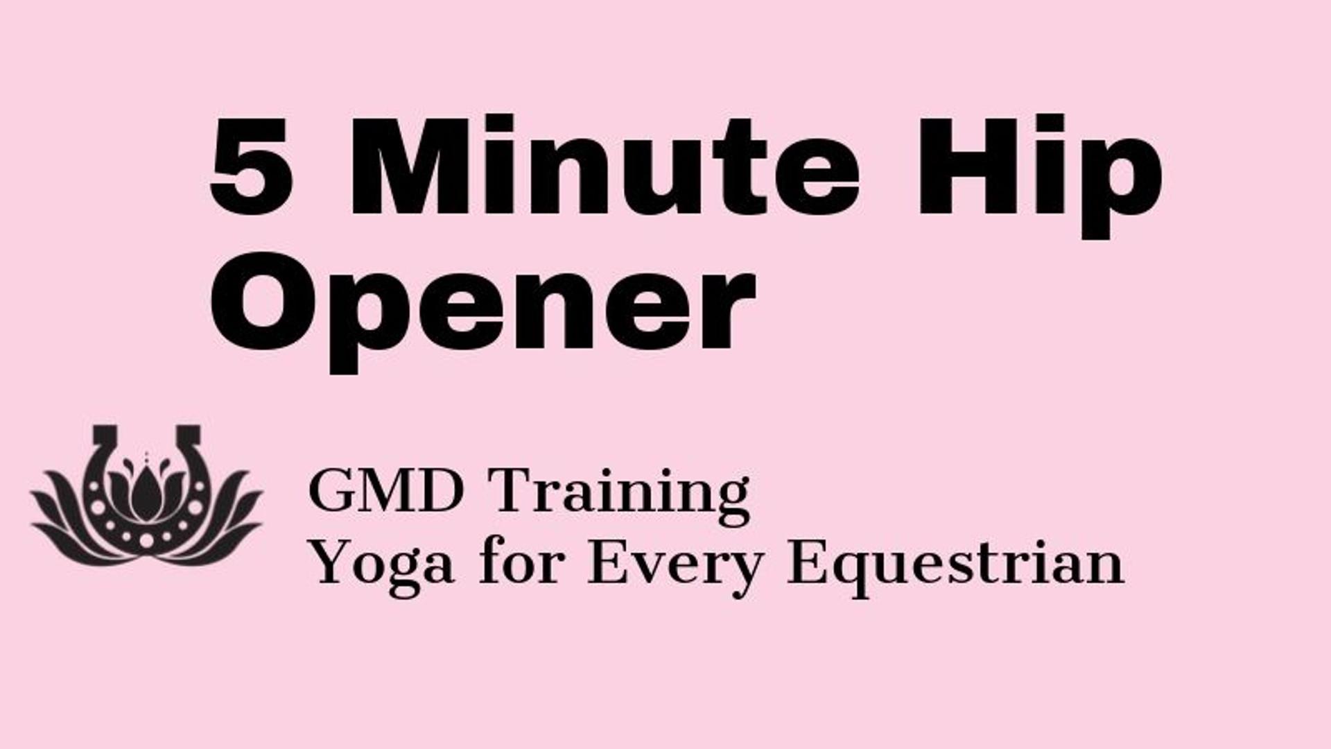 5 minute hip opener