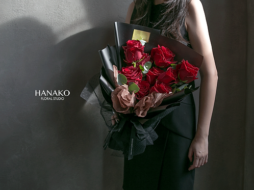 Hanako Red/Pink 19 Roses Bouquet