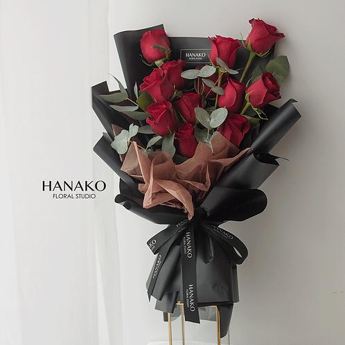 Hanako 9/19 Red Roses Bouquet