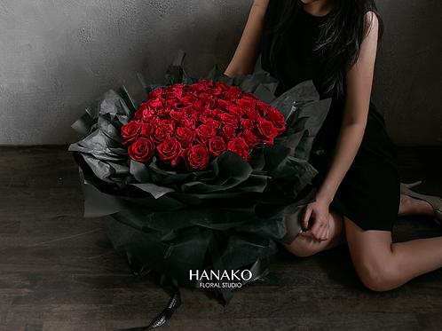 Valentine's 49 RED ROSES