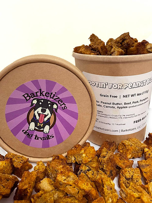 Rootin' for Peanut Butter by Barketizers©. 4oz. cup