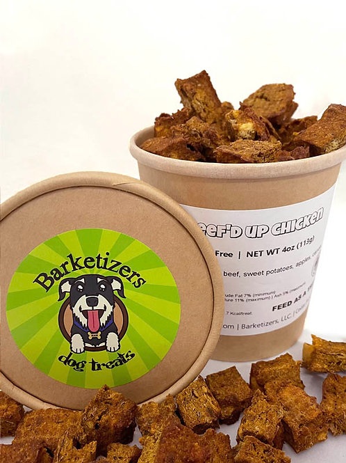 Beef'd Up Chicken by Barketizers©. 4oz. cup