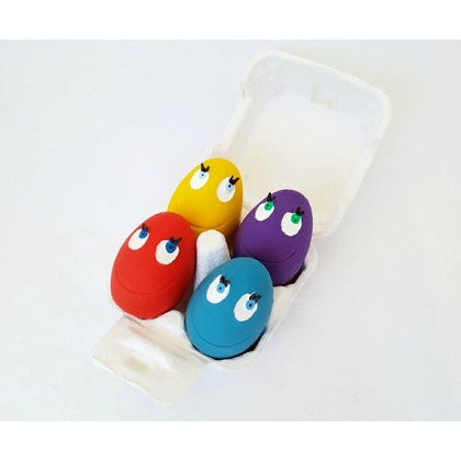 KIMBEE 100% Natural Rubber Toy Set - OVO Eggs