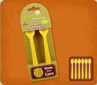 DANDELION Corn Infant Feeding Spoons 玉米嬰兒勺子