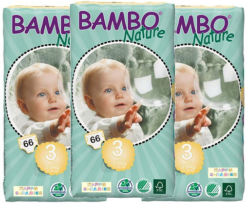 Bambo Nature Nappies: Midi Size 3 (1 Carton)