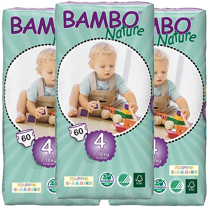 Bambo Nature Nappies: Maxi Size 4 (1 Carton)