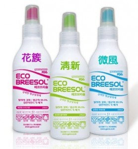 ECO BREESOL for Deodorizing & Sanitizing 200ml 紡織品