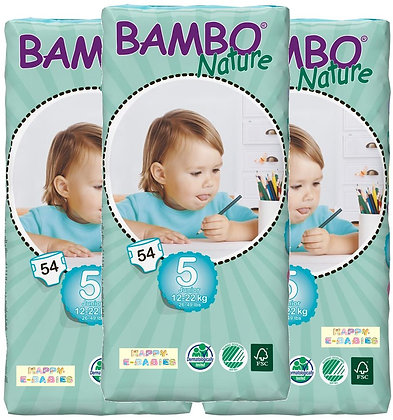 Bambo Nature Nappies: Junior Size 5 (1 Carton)