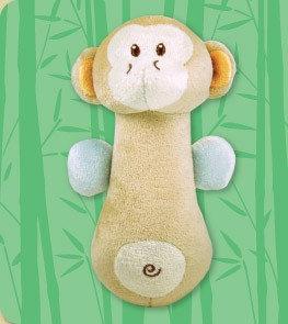 DANDELION Bamboo Monkey Soft Shaker