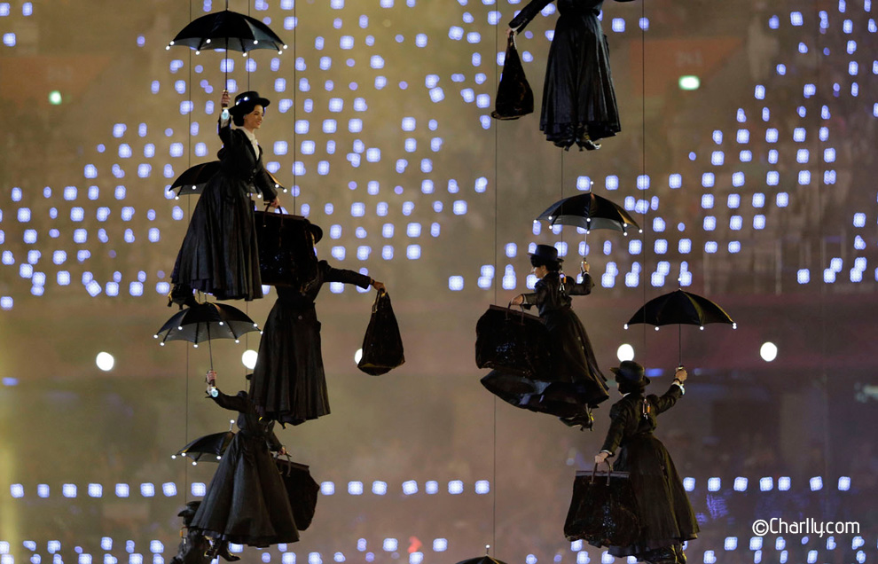 London Olympic games opening ceremony Mary Poppins
