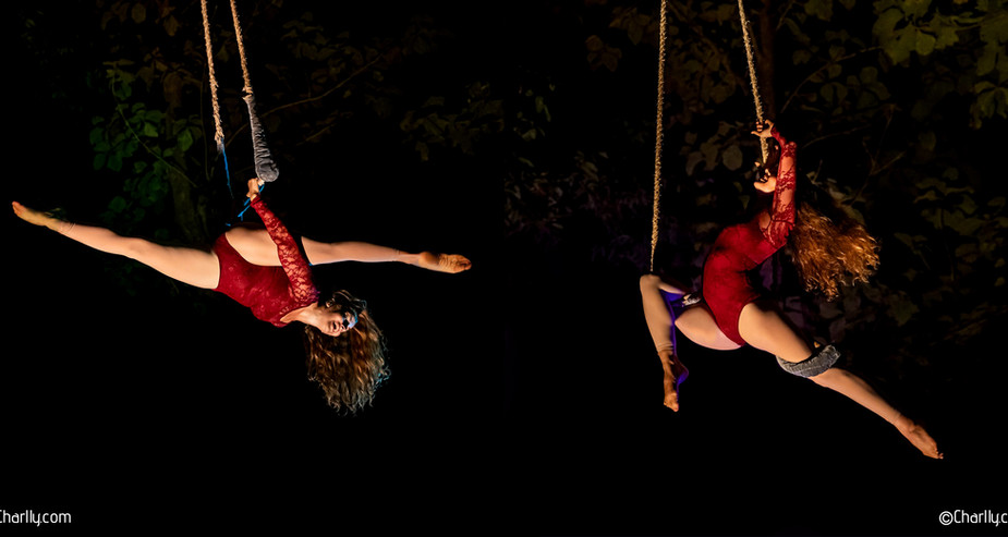 AERIAL TRAPEZE PERFORMANCE IN GOA, INDIA