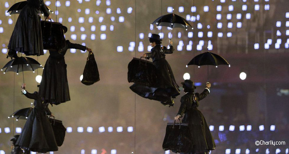 MARY POPPINS 2012 LONDON OLYMPIC GAMES OPENING CEREMONY