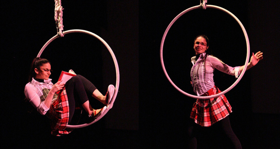 SADLERS WELLS 'CLOSE TO NOTHING' SHOW AERAIL HOOP PERFORMANCE