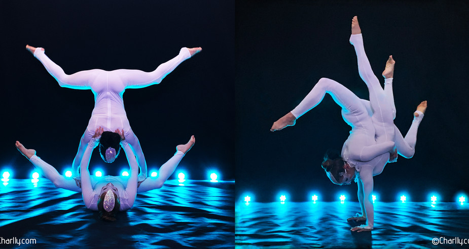 ACROBALANCE FEMALE DUO WINTER WHITE THEMED