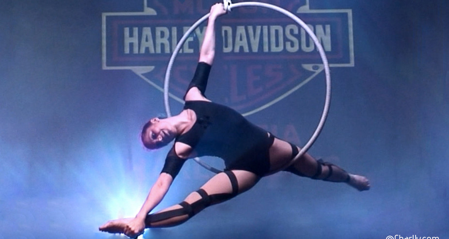 AERIAL PERFORMANCE HARLEY DAVIDSON OWNERS EVENT