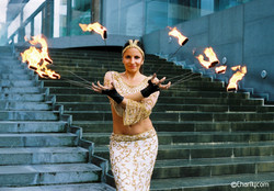 Indian Themed Fire artistry