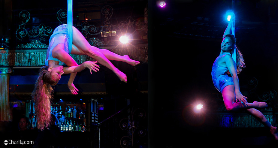 AERIAL SLING PERFORMANANCE FOR CHARITY BALL