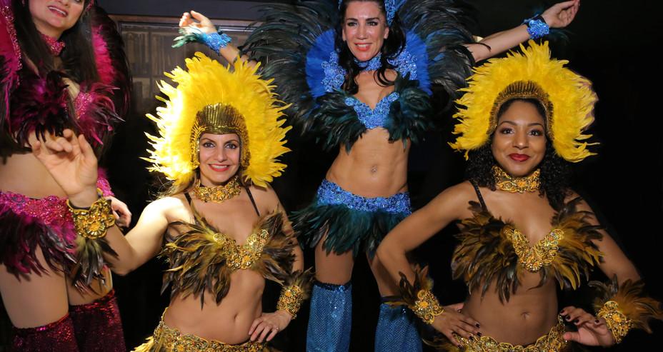 CARNIVAL FIESTA STILTWLAKERS & DANCERS FOR NYE CASINO EVENT