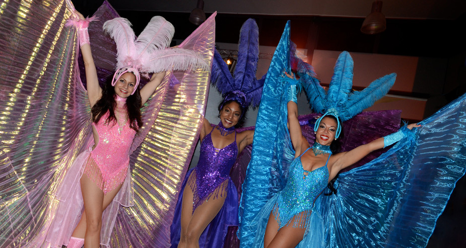 CARNIVAL SHOWGIRL COSTUMES WITH WINGS