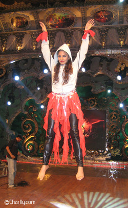 Filming in an aerial harness for Nach Baliye