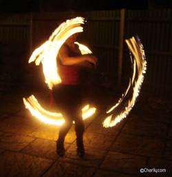 ©Charlly Fire staff spinning