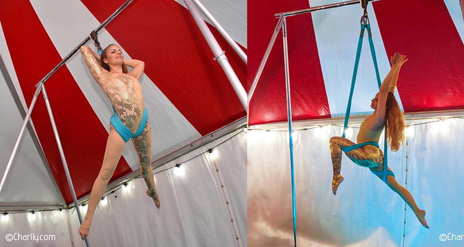 AERIAL SLING PERFORMANCE ON PORTABLE FREESTANDING RIG