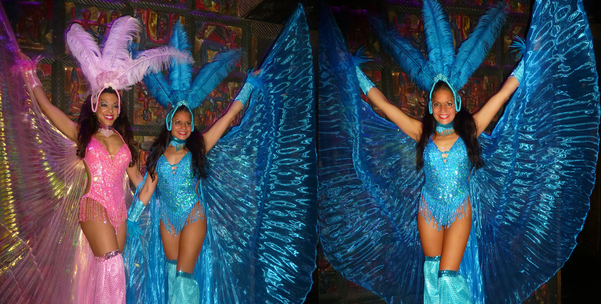 SHOWGIRL STILTWALKING COSTUMES WITH WINGS