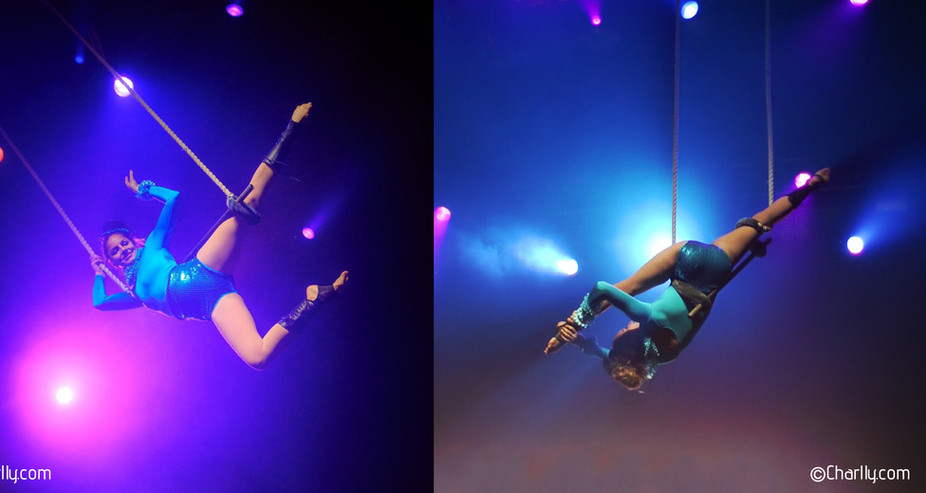 AERIAL TRAPEZE PERFORMANCE NYE