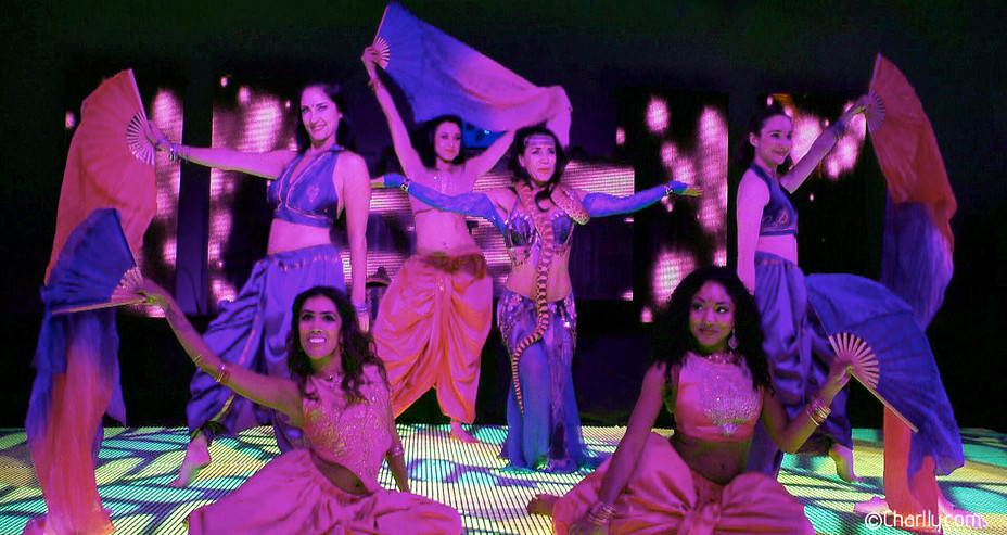 FAN VEIL GROUP DANCE ACT PART OF MYSTIC INDIA CIRCUS SHOW