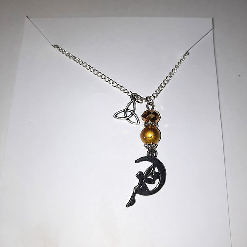 Celtic Fairy Necklace Yellow