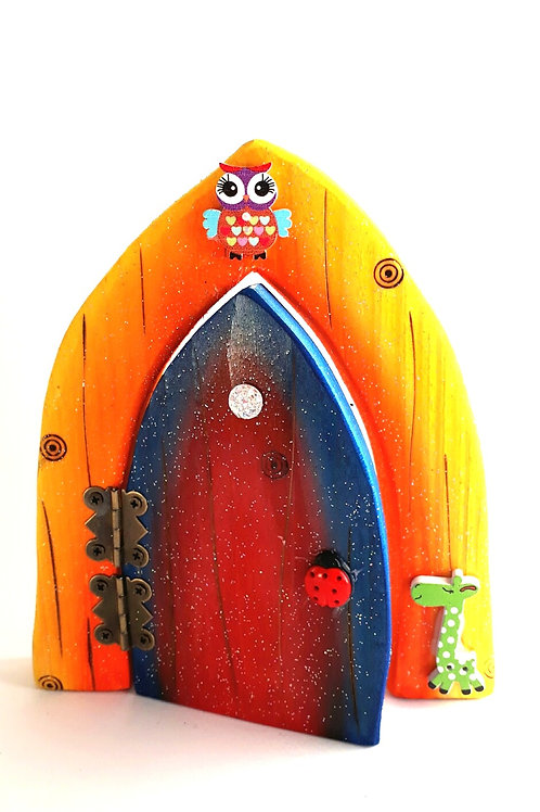 The Classic Collection: sunset & Red Blue  Opening Fairy Door