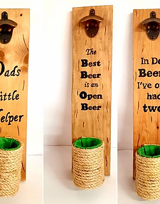 Rustic Bottle Opener with removable Catcher
