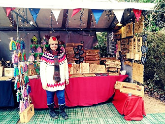 Jo on Cotswold Crafting Stall at Hatton Country World Christmas Fair 2019