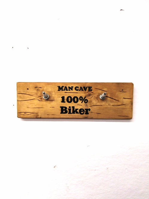 Spark Plug Man Cave 100% Biker Coat Hooks