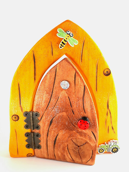 Mustard & Natural Fairy Door