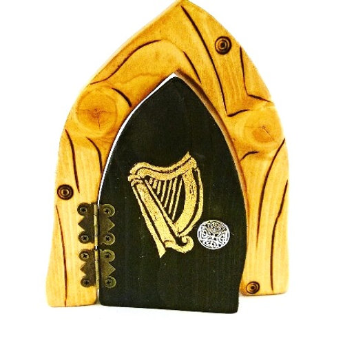 Celtic Harp Fairy Door