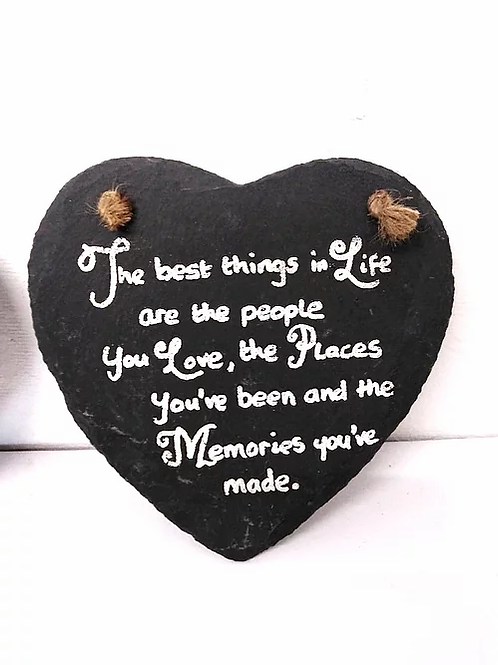 Slate Hanging Wall Plaque: The Best Things In Life