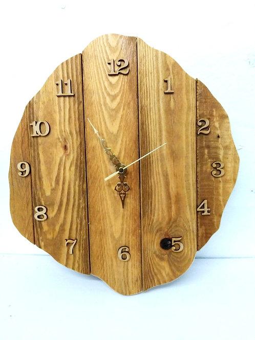 Rustic free shape Wall Clock