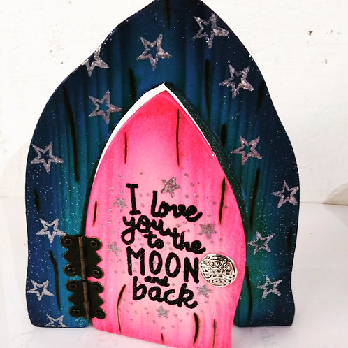 The Enchanted Collection: Love You To The Moon Opening Fairy Door