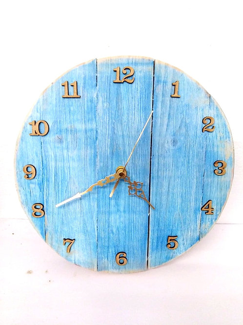Rustic Blue Large Wall Clock
