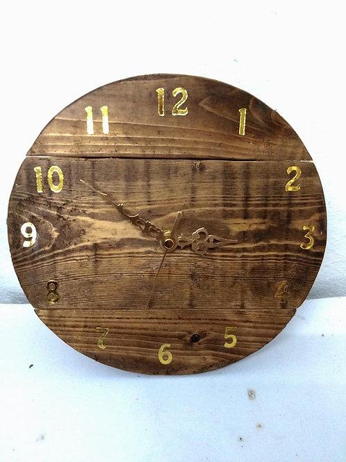 Rustic Natural Wall Clock
