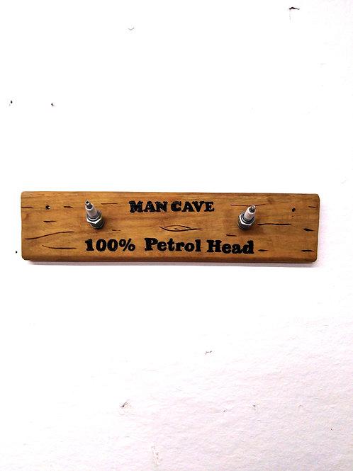 Spark Plug Man Cave 100% Petrol Head Coat Hooks