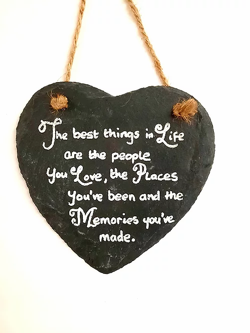 Slate Hanging Wall Plaque: The Best Thing In Life