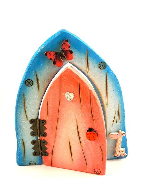 Blue and Pink Fairy Door