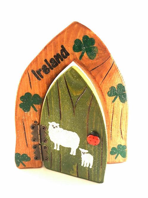 Irish Sheep Fairy Door