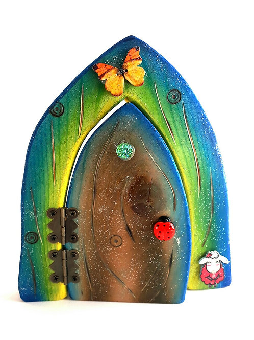 The Classic Collection: Blue & Brown Opening Fairy Door